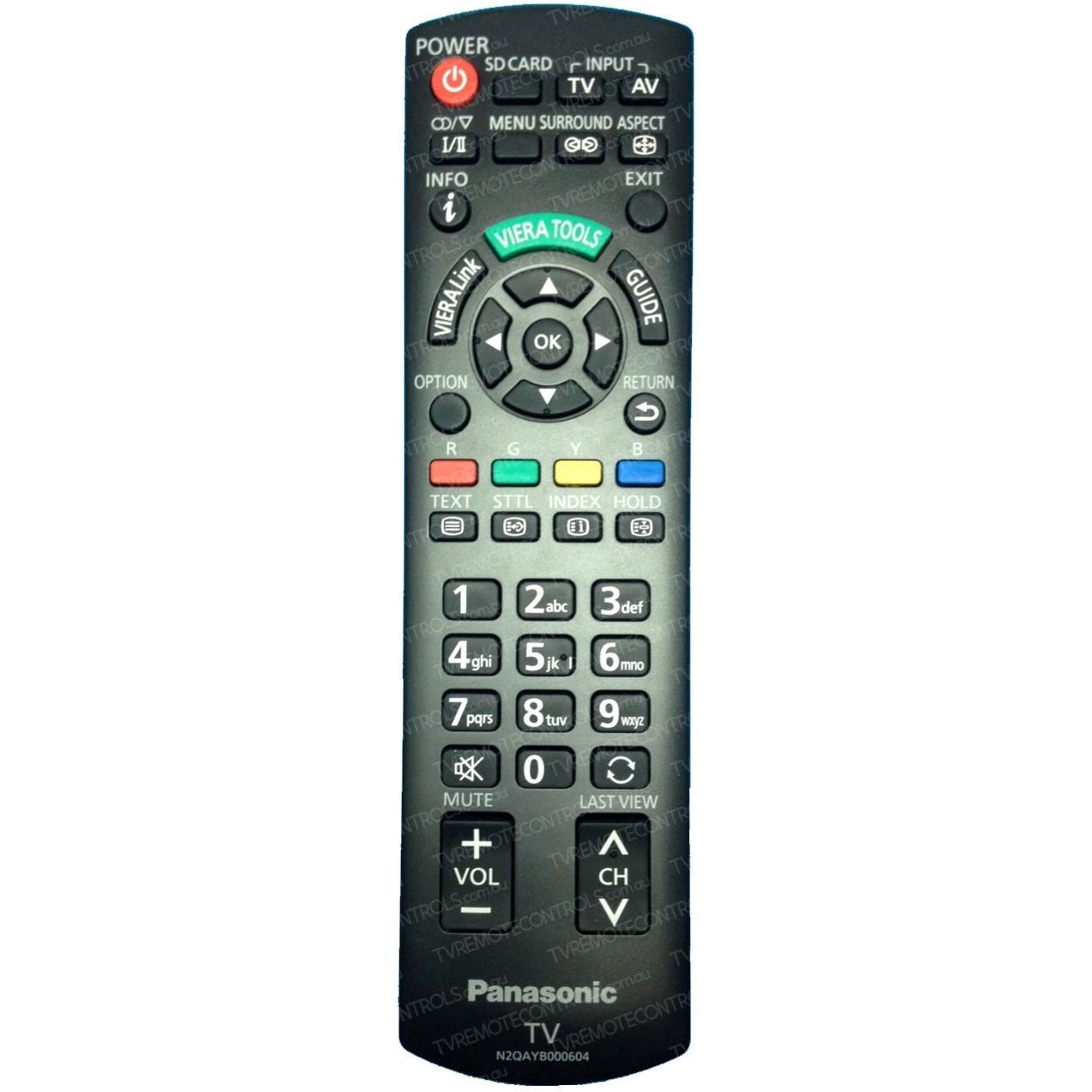 PANASONIC N2QAYB000604 TV Remote Control